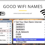 Good WiFi names for your Router Network SSID 2021